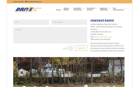 Screenshot of Contact Page driveindustry.com - Contact DRIVE - DRIVE - captured Sept. 29, 2018