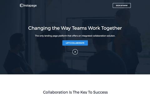 Screenshot of instapage.com - Instapage Team Collaboration - captured May 13, 2017