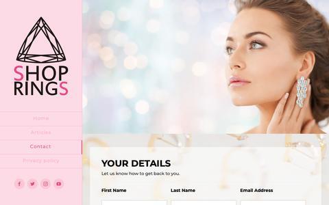 Screenshot of Contact Page shopkuza.com - Contact - captured Oct. 16, 2018