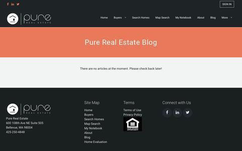 Screenshot of Blog purerealestate.com - Real Estate Blog by Pure Real Estate Blog | Search Homes in Bellevue Area - captured May 22, 2017