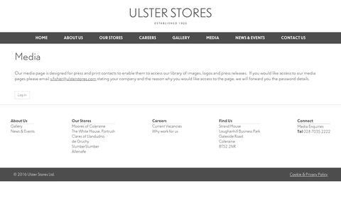 Screenshot of Press Page ustores.com - Media - Ulster Stores Ltd - captured Nov. 28, 2016