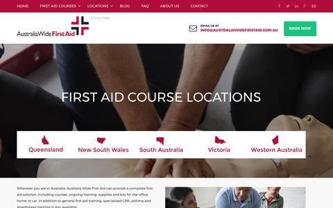 Screenshot of Locations Page australiawidefirstaid.com.au - Locations   Australia Wide First Aid - captured May 31, 2017