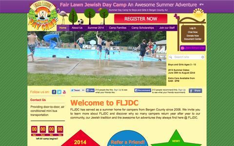 Screenshot of Home Page fairlawncamp.com - Fair Lawn Jewish Day Camp   Unique Summer Fun   NJ - captured Oct. 5, 2014
