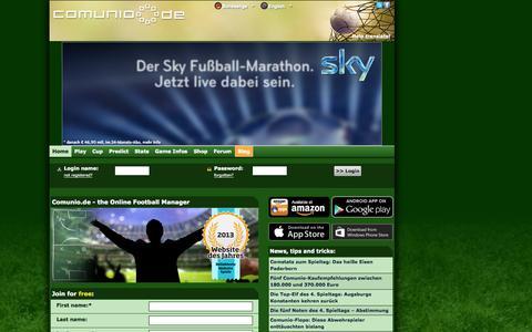 Screenshot of Home Page comunio.de - COMUNIO football manager, soccer manager, fantasy football, Bundesliga manager - captured Sept. 18, 2014