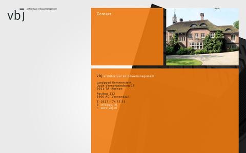 Screenshot of Contact Page vbj.nl - Contact - VBJ Architecten en Bouwmanagement - VBJ Architecten en Bouwmanagement - captured Feb. 16, 2016