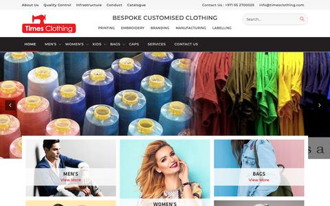 Screenshot of Home Page timesclothing.com - Times Clothing – Just another WordPress site - captured Nov. 18, 2018