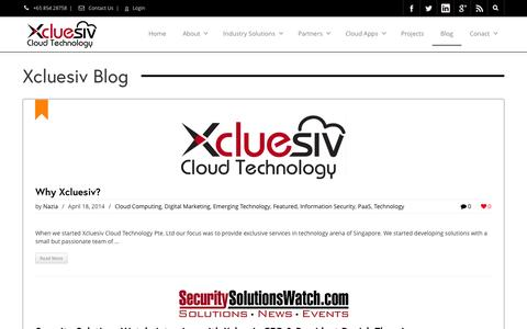 Screenshot of Blog xcluesiv.com - Xcluesiv Blog   Xcluesiv Cloud Technology Blog - captured Sept. 23, 2014