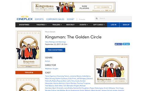 Cineplex.com | Kingsman: The Golden Circle