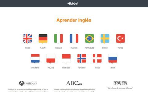 Screenshot of Blog babbel.com - Aprender inglés donde y cuando yo quiera - Babbel.com - captured Feb. 14, 2018