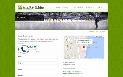 Screenshot of Contact Page smartstartlighting.com - CONTACT - Smart Start Lighting - captured Oct. 26, 2014
