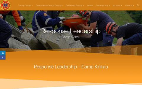 Screenshot of Locations Page firerescueandfirstresponse.co.nz - Response Leadership Camp Kirikau - Fire Rescue and First Response Ltd - captured Nov. 14, 2018