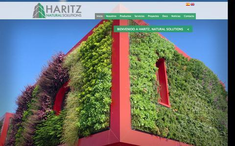 Screenshot of Home Page haritz.es - JARDINES VERTICALES HARITZ - captured Oct. 2, 2014