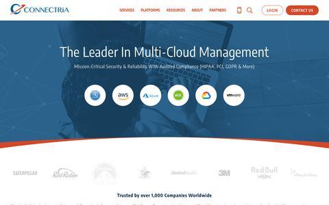 Screenshot of Home Page connectria.com - (2) New Messages! - captured Dec. 2, 2018