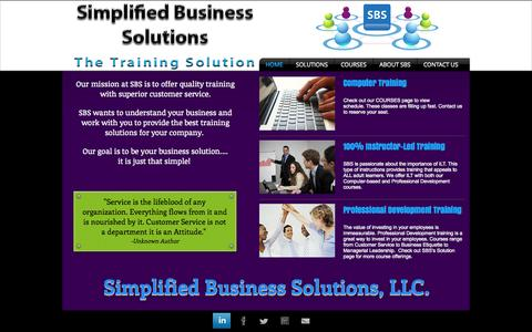 Screenshot of Home Page sbsllcla.com - Computer Training in Baton Rouge - captured Oct. 9, 2014