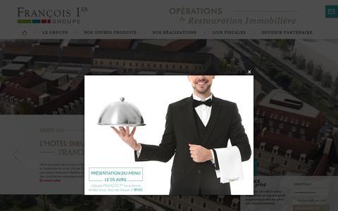 Screenshot of Home Page francois1er.com - Groupe François 1er, Opérations de Restauration Immobilière - captured March 17, 2018