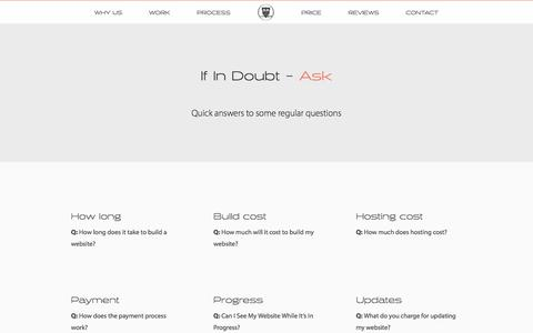 Screenshot of FAQ Page realowl.co.uk - Real Owl - Bespoke, User Friendly Web Design - King's Somborne, Stockbridge - captured Dec. 16, 2016