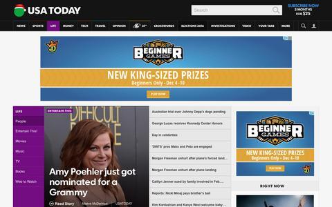 Screenshot of Team Page usatoday.com - Celebrity Photos, Videos and Interviews - USATODAY.com - captured Dec. 7, 2015
