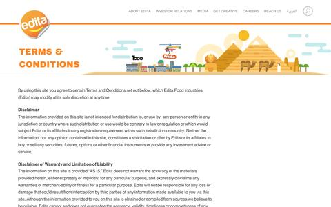 Screenshot of Terms Page edita.com.eg - Terms & Conditions – Edita - captured Oct. 26, 2016