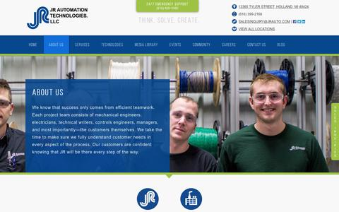 Screenshot of About Page jrauto.com - About JR Automation Technologies - captured July 27, 2017