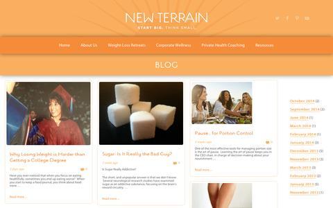 Screenshot of Blog new-terrain.com - blog | new terrain:  colorado health & wellness | new terrain: colorado health & wellness - captured Oct. 26, 2014
