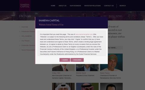 Screenshot of Team Page samenacapital.com - Samena Capital   – Our People - captured Sept. 30, 2014