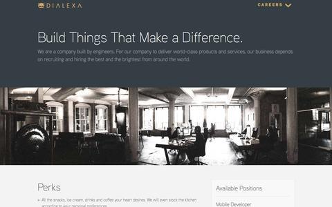 Screenshot of Jobs Page dialexa.com - Careers - captured Oct. 27, 2014