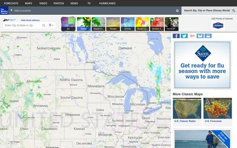 Screenshot of Maps & Directions Page weather.com - Weather Map - weather.com - captured Oct. 26, 2014