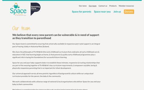 Screenshot of Team Page space.org.nz - About Space NZ  Trust - Together we can create a better future for New Zealand - captured Oct. 1, 2018
