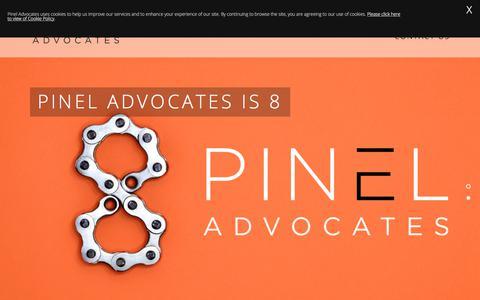 Screenshot of Home Page pineladvocates.com - Pinel Advocates - captured July 18, 2018