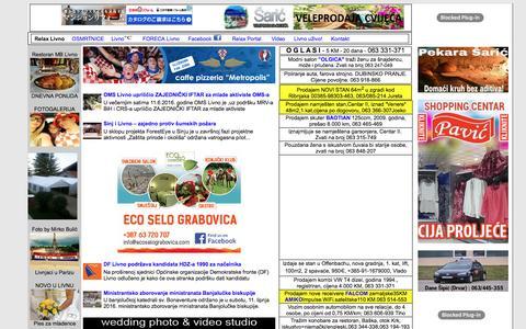 Screenshot of Home Page relax-livno.com - Relax Livno - captured June 13, 2016