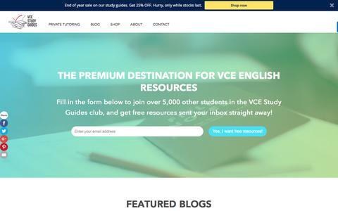 Screenshot of Home Page vcestudyguides.com - VCE Study Guides - captured Nov. 15, 2017
