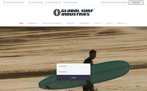 Screenshot of Press Page surfindustries.com - GLOBAL SURF INDUSTRIES - TM PORTAL - captured Sept. 23, 2018