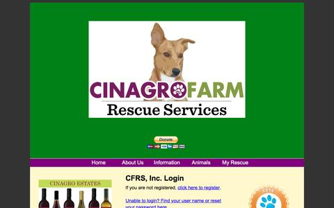 Screenshot of Login Page cinagrofarm.com - Login - captured Jan. 28, 2016