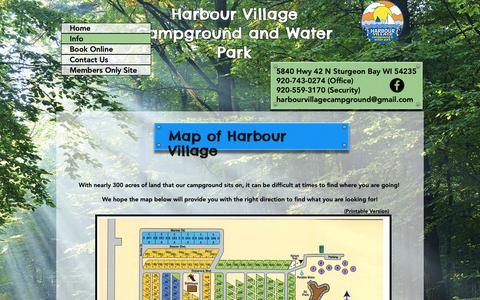 Screenshot of Maps & Directions Page harbourvillageresort.net - Harbour Village   Map - captured Nov. 10, 2018