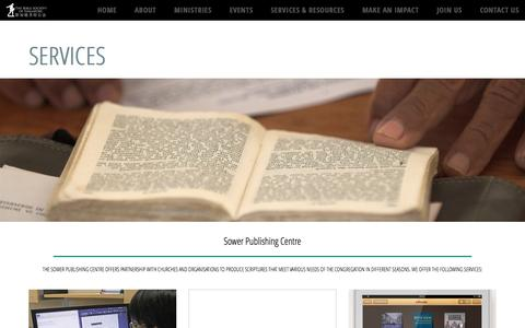 Screenshot of Services Page bible.org.sg - Services   Bible Society of Singapore - captured Nov. 22, 2016