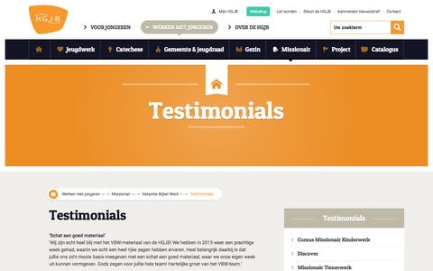 Screenshot of Testimonials Page hgjb.nl - Testimonials - HGJB - captured May 12, 2017