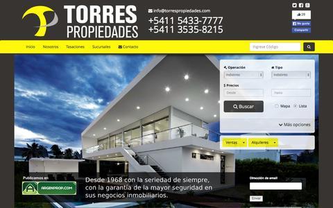 Screenshot of Home Page torrespropiedades.com - Torres Propiedades - captured Aug. 17, 2015
