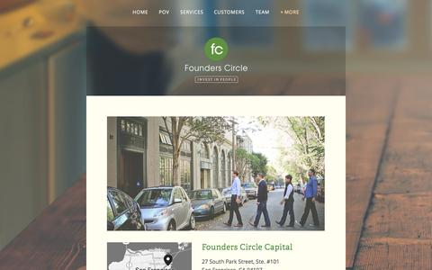 Screenshot of Contact Page founderscircle.com - Contact Us — Founders Circle - captured Oct. 29, 2014