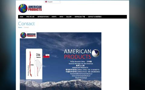 Screenshot of Contact Page americanproducts.cl - American Products – Contact - captured Oct. 4, 2014