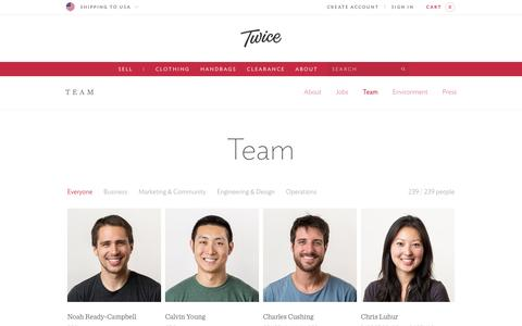 Screenshot of Team Page liketwice.com - Team - Twice - captured Oct. 29, 2014