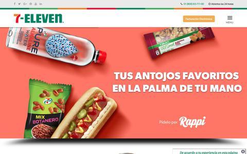 Screenshot of Home Page 7-eleven.com.mx - ¡Bienvenido! | 7-Eleven - captured Sept. 19, 2018