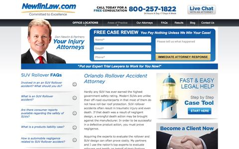 Orlando Rollover Accident Attorney - Dan Newlin - Recovered Millions