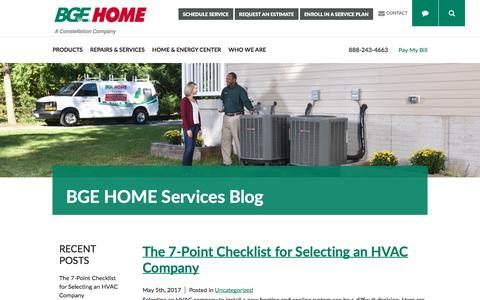 Screenshot of Blog bgehome.com - BGE HOME Home and Energy Blog - BGE HOME - captured May 31, 2017