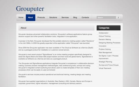 Screenshot of About Page grouputer.com - About Grouputer | Advanced collaboration technologies | Grouputer - captured Sept. 30, 2014