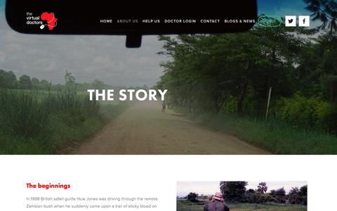 Screenshot of About Page virtualdoctors.org - The Story - captured Sept. 25, 2018