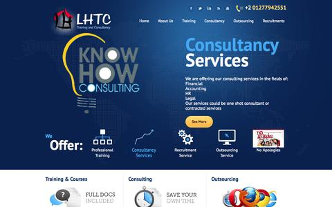 Screenshot of Home Page Site Map Page lighthouse-tc.com - Home - LHTC - Light HouseLHTC – Light House - captured Oct. 3, 2014