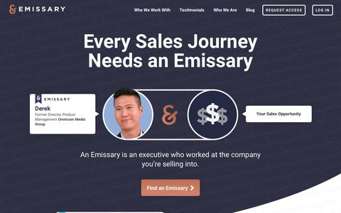 Every Sales Journey Needs an Emissary · Emissary | Complex sales require uncommon insights