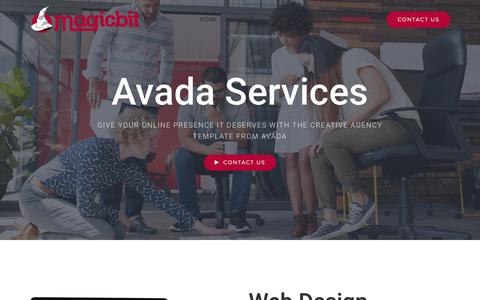 Screenshot of Services Page magicbit.co - SERVICES - Magicbit - captured July 25, 2018