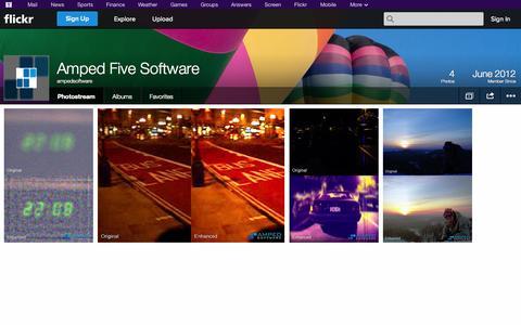 Screenshot of Flickr Page flickr.com - Flickr: ampedsoftware's Photostream - captured Oct. 25, 2014