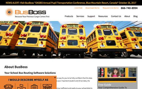 Screenshot of Products Page busboss.com - School Bus Routing Software | Transportation Routing And Scheduling - captured Oct. 21, 2017